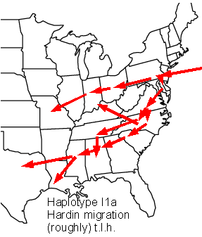 rough map of i1a Hardin migration in the US